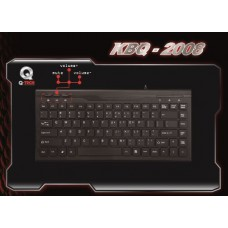 KEYBOARD MINI USB S.SLIM BLACK KBQ-2008
