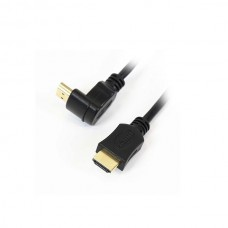 Omega Καλώδιο Hdmi 1.4vΜ/Μ 3m γωνία Gold blister packing OCHK34