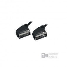 1.5M Scart Plug Plug 21C - Ccs με όλα τα pin συνδεδεμένα Nickel