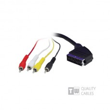 5M Scart To 4RCA Cable - Ccs