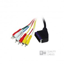 5M Scart To 6RCA Cable - Ccs