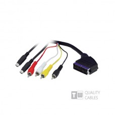 1.5M Scart To 4RCA 2 S-Vhs-Ccs