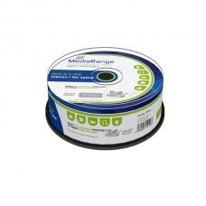MR407 MediaRange DVD-R 16x Inkjet Fullprintable cakebox of 25pcs