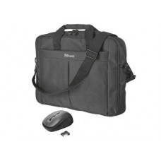 """TRUST CARRY BAG With Mouse - Τσάντα Notebook 16"""" με ποντίκι - Μαύρο"""