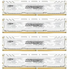 Ballistix Sport LT 16GB Kit DDR4 4GBx4 2666 DIMM 288pin white