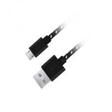 Καλώδιο Micro USB 2.0 1m Fabric braided μαύρο