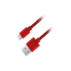 Καλώδιο φόρτισης 1m Esperanza fabric braided κόκκινο Micro USB