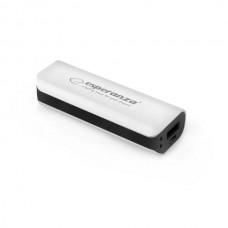 Φορητός Φορτιστής 2200mA Power Bank άσπρο/μαύρο EMP103WK