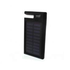 Φορητός Ηλιακός Φορτιστής & Power Bank 8000mA micro USB καλώδιο WELL