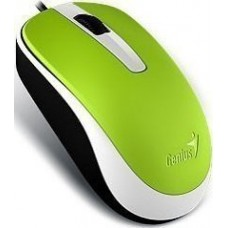 GENIUS MOUSE DX-120, WIRED, USB, OPTICAL, GREEN